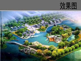 滨湖景区鸟瞰图