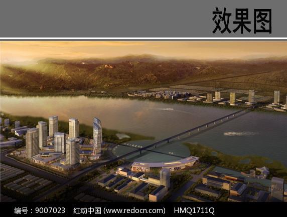 滨江核心区景观效果图图片