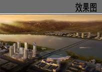 滨江核心区景观效果图