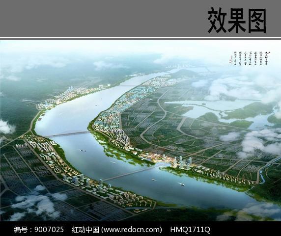 滨江绿地景观设计鸟瞰图图片