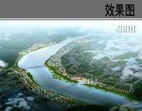 滨江绿地景观设计鸟瞰图