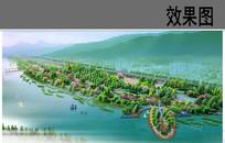 滨水带状公园鸟瞰图