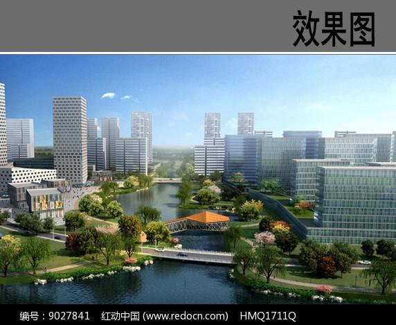 滨水带状公园效果图图片