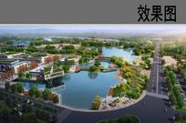 滨水公园入口景观效果图