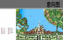 滨水节点广场平面图