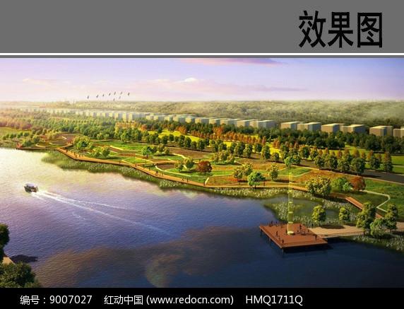 滨水景观台地效果图图片