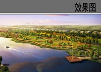 滨水景观台地效果图