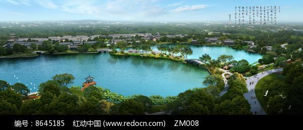 滨水景观效果图图片