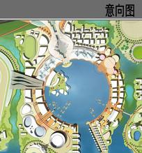 滨水中心景观节点平面图