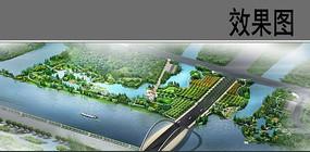 城市生态公园节点鸟瞰图