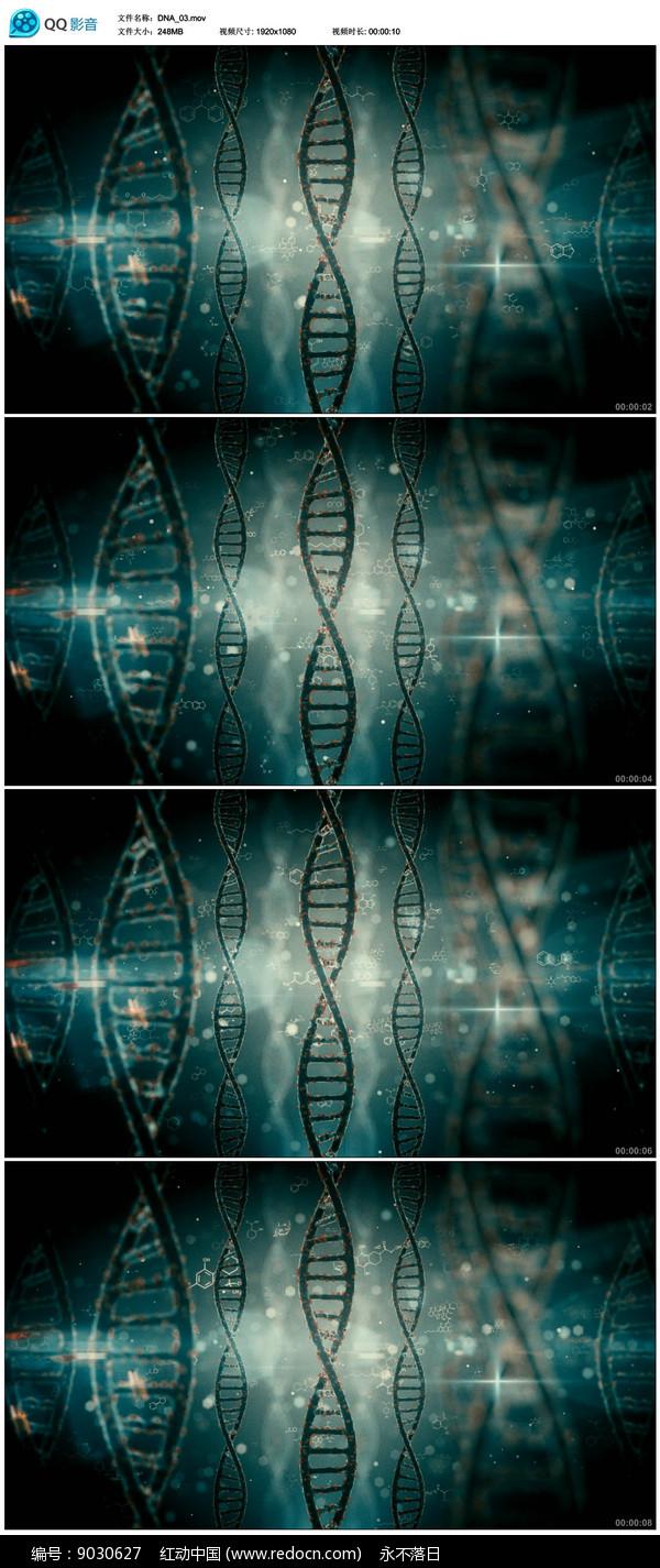 动态DNA医疗背景视频 图片