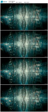 动态DNA医疗背景视频