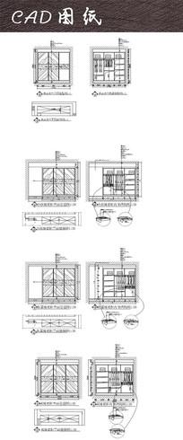 多款现代大衣柜CAD