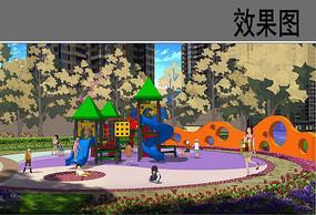 儿童活动区景观效果图
