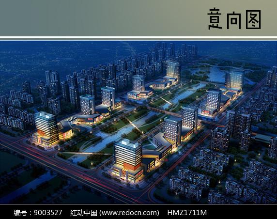 高层住宅楼商业区鸟瞰图图片