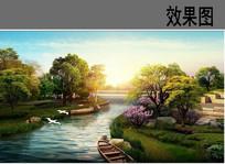 公园滨水景观效果图