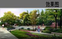 公园节点广场效果图