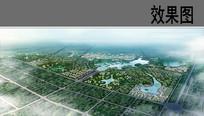 公园景观设计鸟瞰效果图