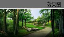 公园林荫道景观效果图 JPG