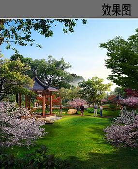 公园绿化景观效果图