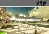 广场景观桥效果图
