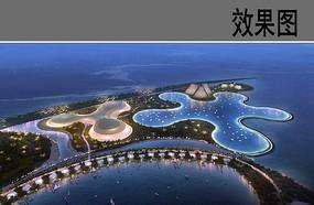 海岛度假中心鸟瞰效果图
