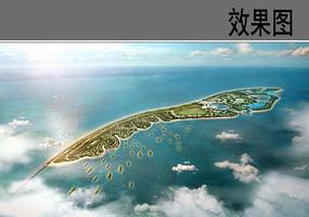 海岛公园鸟瞰图