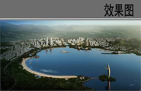 海湾景观设计效果图