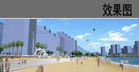 河岸雕塑广场效果图
