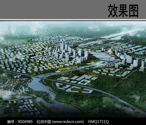 河道景观设计鸟瞰图图片