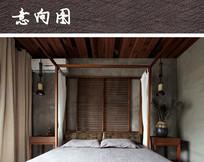 极简木质风格卧室