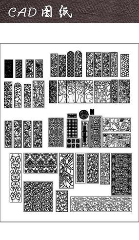 精品中式花纹样式CAD