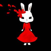 可爱卡通兔子装饰画