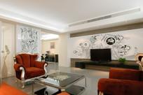 利用国外元素的客厅