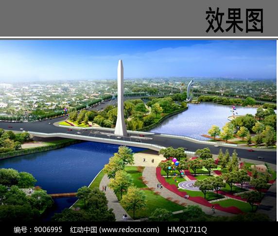 桥头景观效果图图片