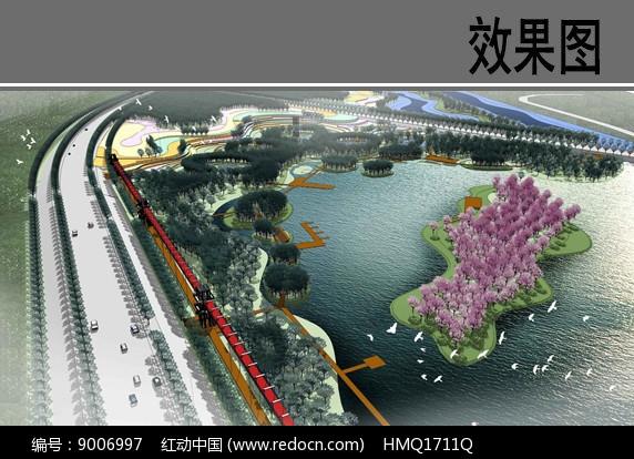 亲水生态景观设计鸟瞰图图片