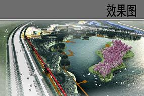 亲水生态景观设计鸟瞰图