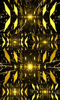 奢华金色粒子光线LED舞台视频