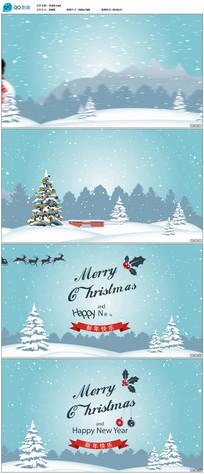 圣诞节新年祝福视频片头
