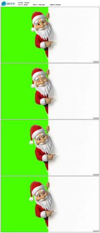 圣诞老人手指广告牌视频