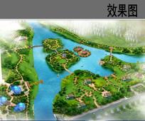 生态岛公园鸟瞰图 JPG