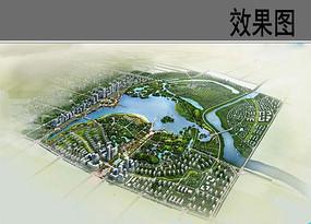生态公园概念设计鸟瞰图