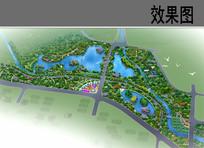 生态公园鸟瞰效果图 JPG