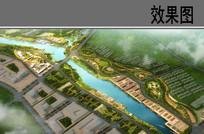 生态码头鸟瞰效果图