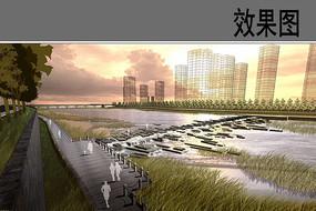 湿地公园景观效果图