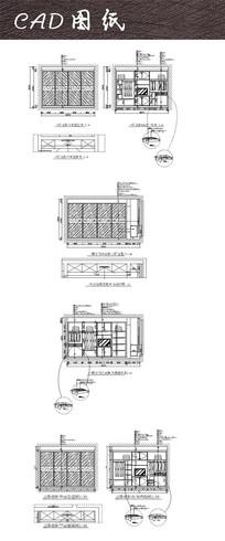 室内衣柜电视柜CAD
