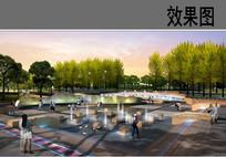 特色喷泉广场效果图 JPG