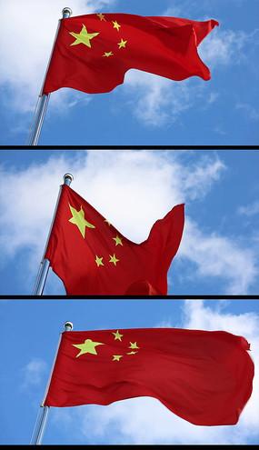 五星红旗迎风飘扬视实拍视频图片