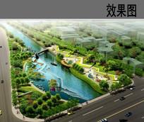 运河公园节点效果图