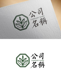 中国风艾灸养生园林LOGO